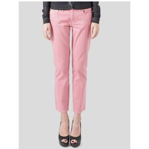 Tory Burch Alexa Cropped Skinny Jeans Pants Pink